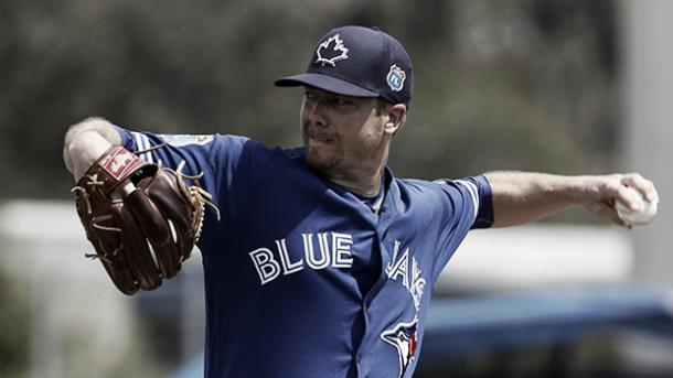 Wade LeBlanc in action with the Toronto Blue Jays during spring training | Butch Dill - USA TODAY Sports