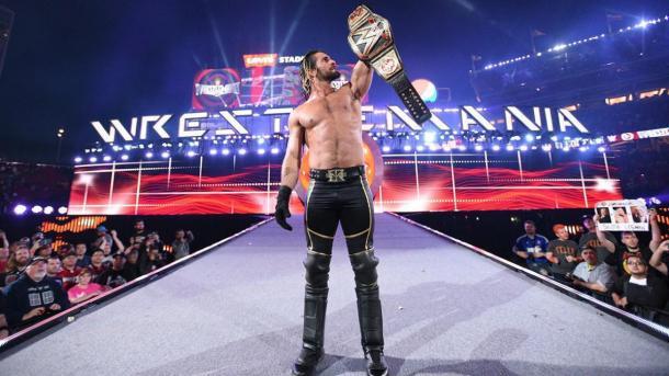 Seth Rollins como Campeón Mundial Peso Pesado de WWE. Foto: wwe.com