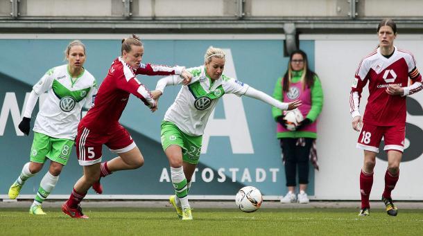Wolfsburg won in last weekend's crunch clash against 1. FFC Frankfurt. | Source: DFB.de