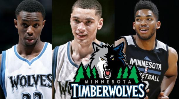 Wiggins, LaVine y Towns, el futuro de los Wolves. (FOTO: respectmyblog.com)