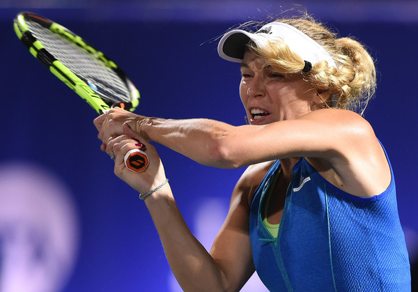 Caroline Wozniacki overcame a tough opponent in Anastasija Sevastova today | Photo: Tom Dulat/Getty Images Europe