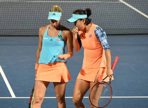 Peng Shuai and Andrea Hlavackova was outplayed today | Photo: Tom Dulat/Getty Images Europe