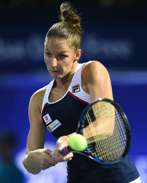 Karolina Pliskova, days after triumphing in Doha, fell in the opening round of the Dubai Duty Free Tennis Championships | Photo: Tom Dulat/Getty Images Europe