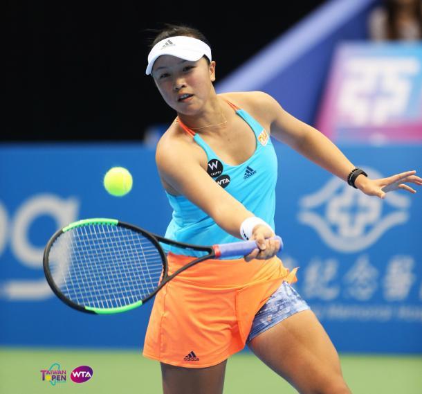 Lee Ya-hsuan in action today | Photo: WTA Taiwan Open