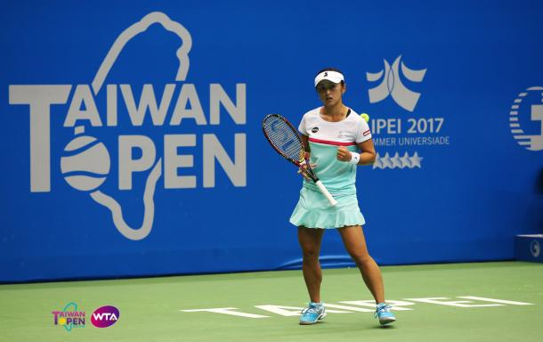 Misaki Doi moves on to the second round | Photo: WTA Taiwan Open