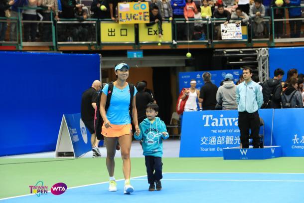 Peng Shuai defeated Lucie Safarova yesterday | Photo: WTA Taiwan Open