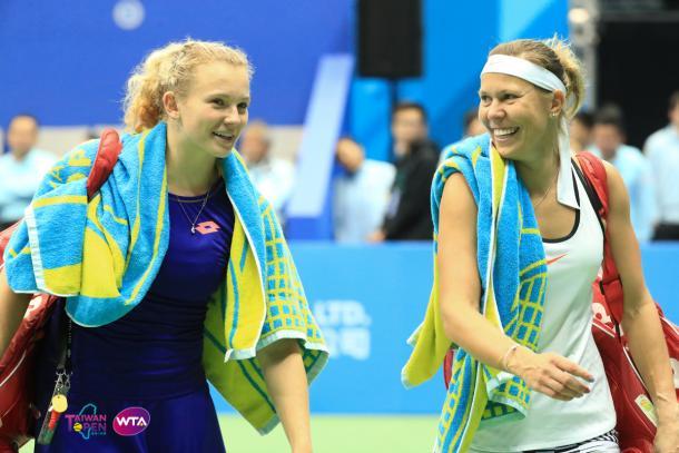 Lucie Hradecka and Katerina Siniakova reached the final in Taipei | Photo: WTA Taiwan Open