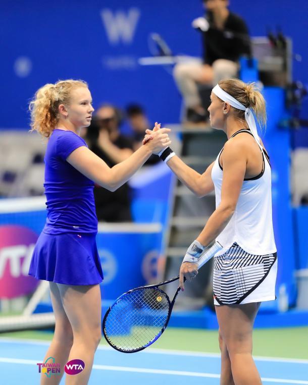 Hradecka and Siniakova in Taipei City | Photo: WTA Taiwan Open