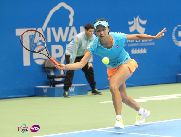 Peng Shuai would be encouraged by her impressive run here | Photo: WTA Taiwan Open