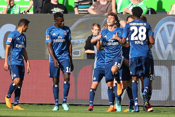 Waldschmidt só marcou duas vezes com a camisa do HSV: ambas contra o Wolfsburg (Foto: Martin Rose/Bongarts/Getty Images)