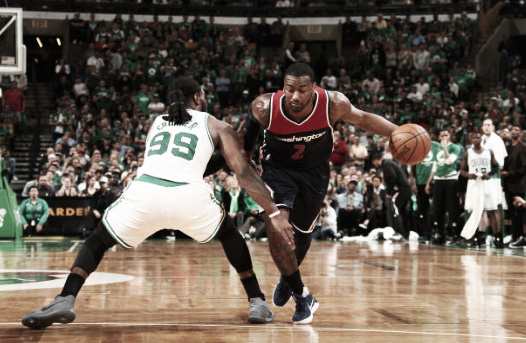 John Wall in attack mode  |  Getty Images