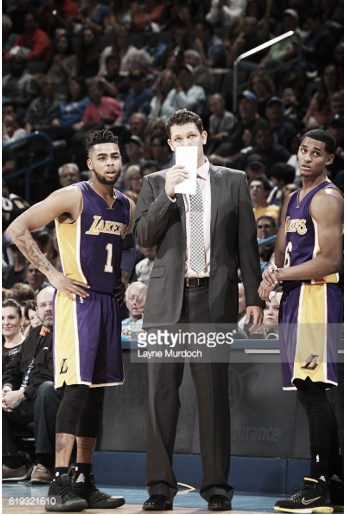 Coach Luke Walton will look to improve his team's defensive effort next time out, Mandatory Copyright Notice: Copyright 2016 NBAE Photo by Layne Murdoch/NBAE via Getty Images)
