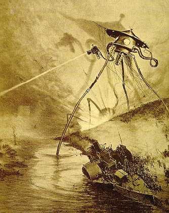 """Trípode de """"La Guerra de los Mundos"""", según una edición francesa de 1906 de la novela de H.G.Wells (PD)."""