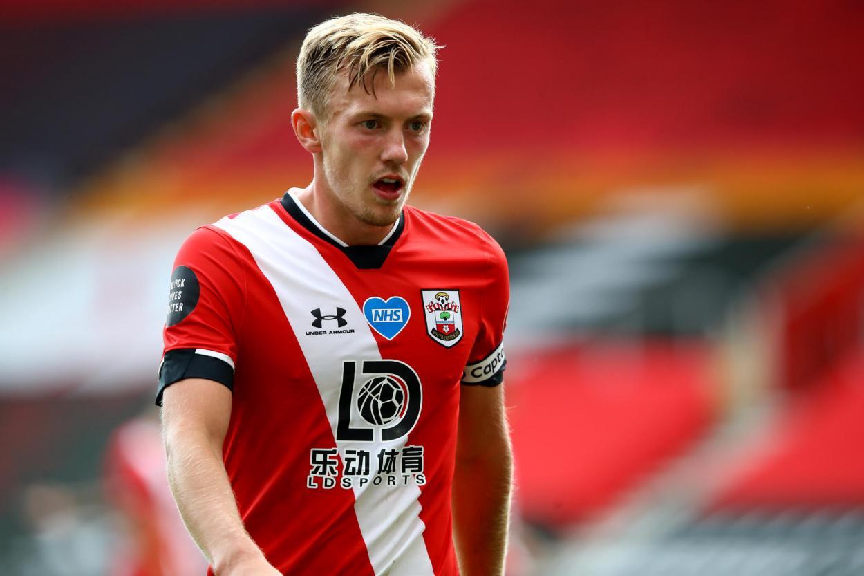 James Ward-Prowse jugando con el Southamton. FUENTE: Southampton FC