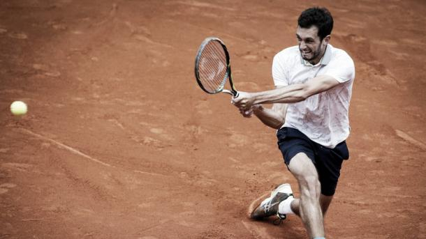 Ward struggled on the clay in Belgrade (Picture from Sky Sports)