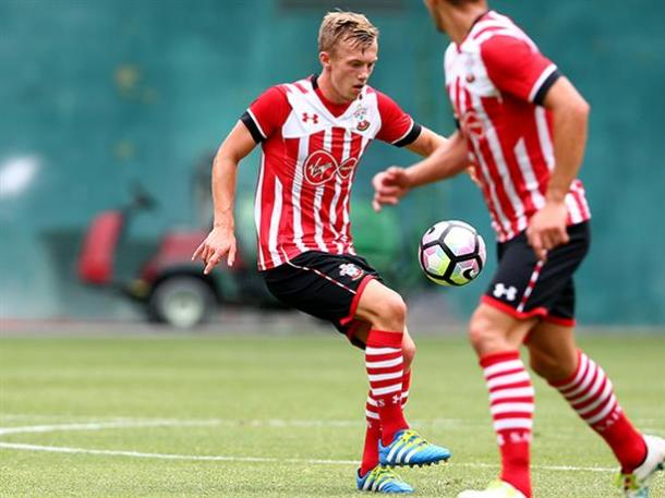 Ward-Prowse getting his first minutes of the pre-season. Photo source: Saintsfc
