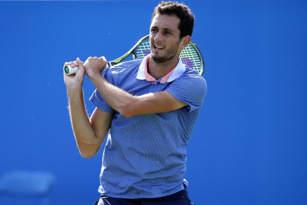 Ward was hoping to win his first ATP Tour level match in this encounter. Photo: Getty