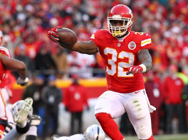 Spencer Ware has 572 yards and 2 touchdowns from 115 carries this season | Source: chiefs.com