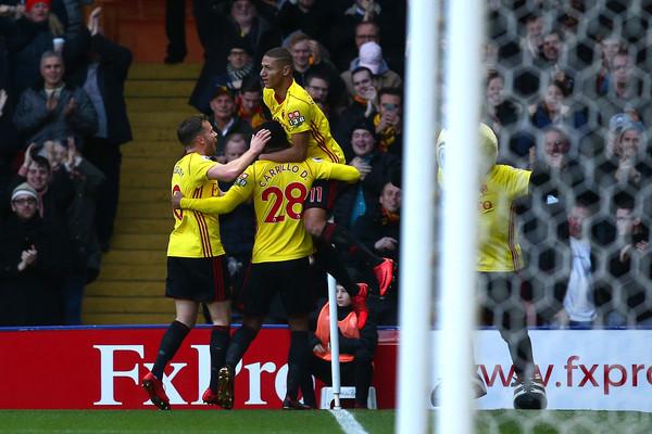 Watford celebra el gol de Carrillo. Foto:Getty Images