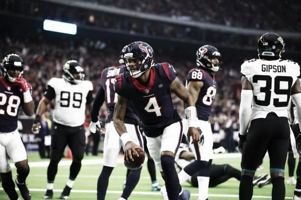 Watson festeja el primer touchdown del partido (Imagen: Texans.com)