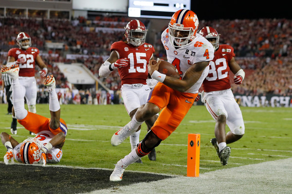Watson's first touchdown of the game kept Clemson close/Photo: Kevin C. Cox/Getty Images