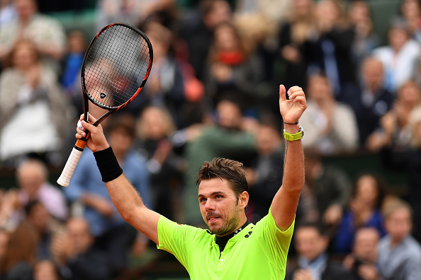 Stan Wawrinka, the defending champion from Switzerland, is through to the quartefinals after a four-set win over Viktor Trociki of Serbia (Photo:Dennis Grombkowski/Getty).