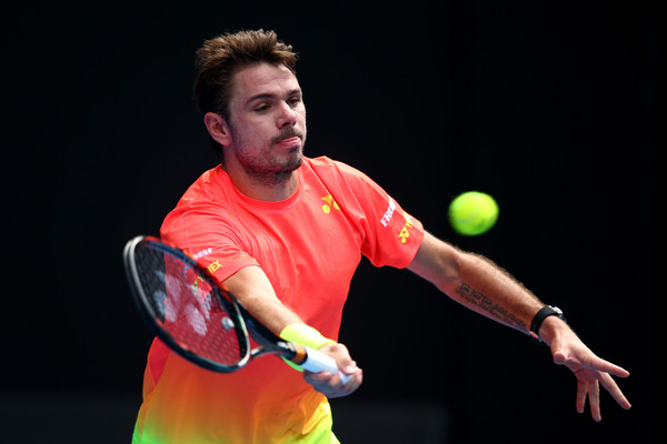 Stan Wawrinka hits a forehand during his fourth round loss.(Photo: Mark Kolbe/Getty Images)