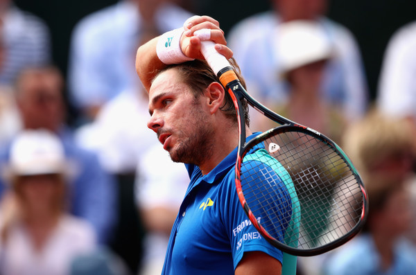 Stan Wawrinka reacts to losing a point during the French Open final, which he lost to Rafael Nadal. Photo: Clive Brunskill/Getty Images