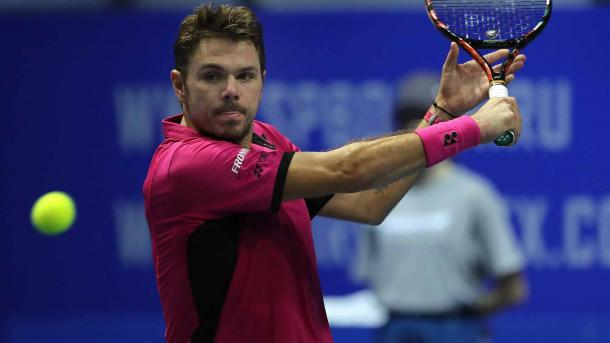 Stan Wawrinka hits a backhand during the St. Petersburg Open. Photo: ATP World Tour