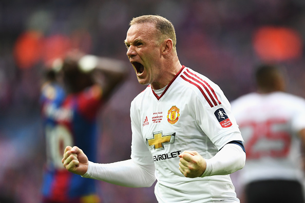 Rooney celebrates United's FA Cup win last season | Photo: Laurence Griffiths/The FA