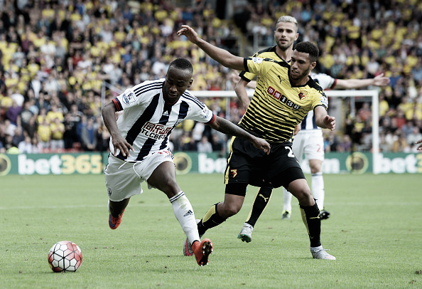 Berahino fights for the ball in the August fixture (Getty Images)