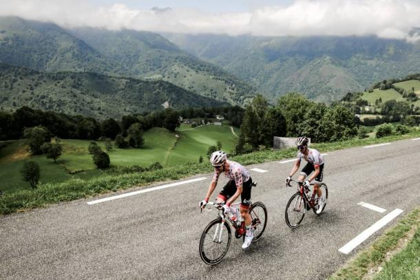 Wellens se mantiene al frente de la montaña.   Foto: LeTour