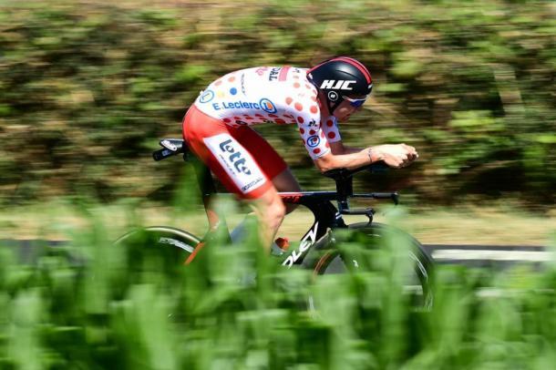 Wellens, con el maillot de la montaña. | Foto: LeTour