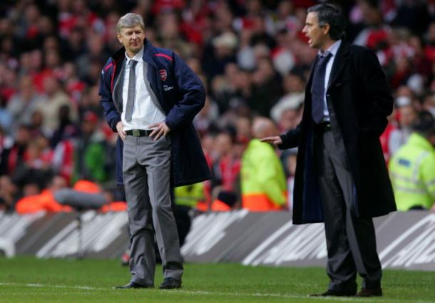 Wenger and Mourinho have been pioneers of the modern game and Guardiola is following in their foot steps | Image: Getty images