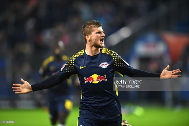 Timo Werner celebrates his goal on Saturday. Source | Getty Images.