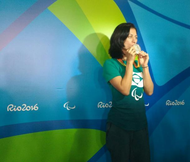 Medalhista comemora prata na Rio 2016 | Foto: Pedro Henrique Guimarães/VAVEL Brasil