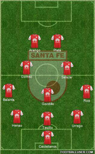 Probable formación de Independiente Santa Fe