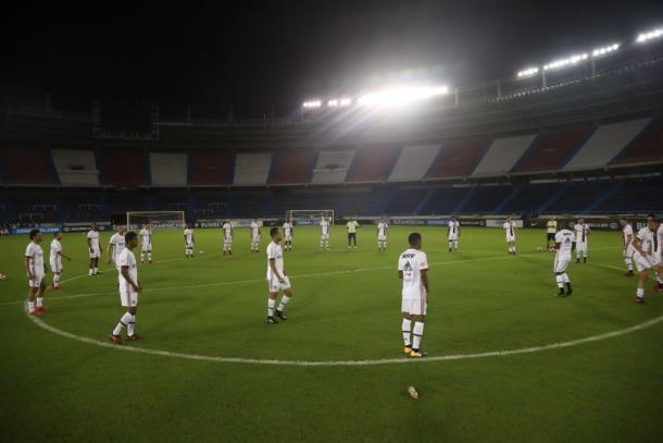 Fla fez treino no Metropolitano, palco da semifinal (Foto: Gilvan de Souza/Flamengo)