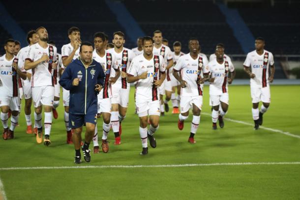Elenco do Flamengo está na Colômbia para semifinal da Sul-Americana (Foto: Gilvan de Souza/Flamengo)