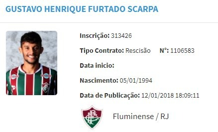 Fluminense acusa Gustavo Scarpa de má-fé — Briga sem fim