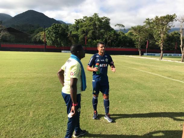Ederson no CT Ninho do Urubu (Foto: Divulgação/Flamengo)