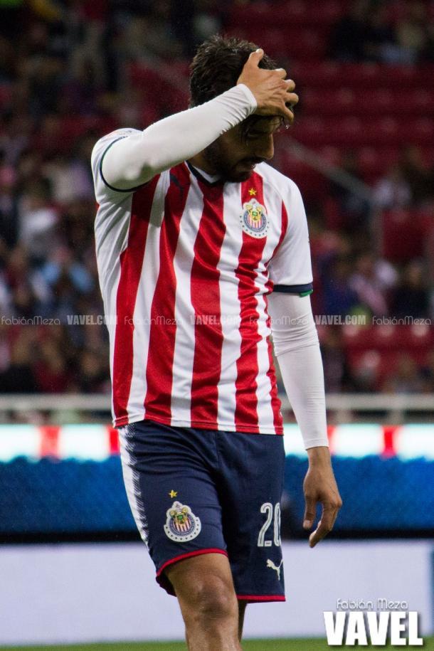 (Pizarro muestra la cara de la derrota | Foto: Fabián meza / VAVEL)