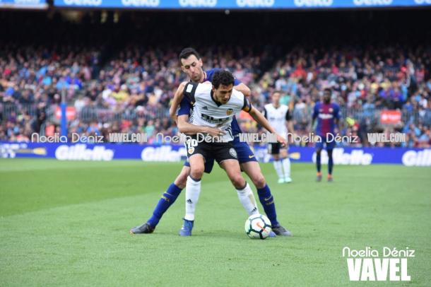 El Valencia complicó mucho el partido al Barça. | Fotografía: Noelia Déniz (VAVEL)