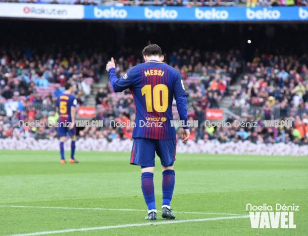 Messi o se sintió demasiado cómodo durante el encuentro. | Fotografía: Noelia Déniz (VAVEL)