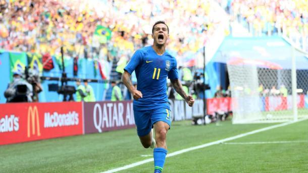 Alegria do menino Coutinho em abrir o placar aos 46' do segundo tempo (Fifa/Getty Images)