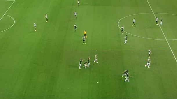 Dracena comemora primeiro gol pelo Verdão ( Rafael Costa / VAVEL Brasil