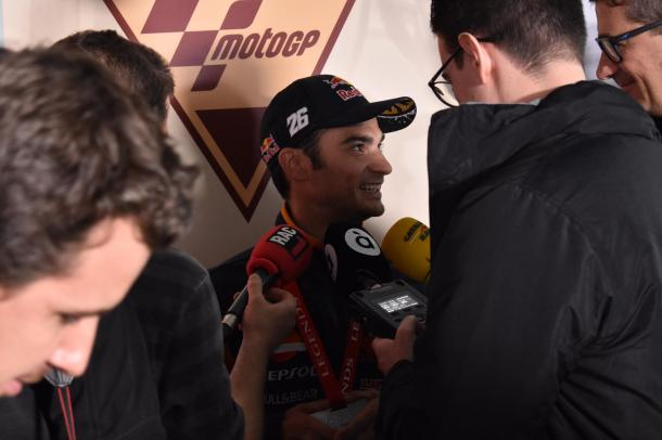 Pedrosa, durante la rueda de prensa / Foto: Rachel Jimenez