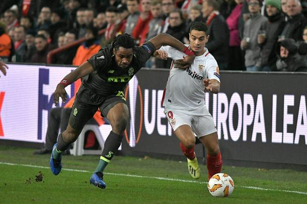 Ben Yedder en el partido contra Standard de Lieja   Foto: Sevilla FC