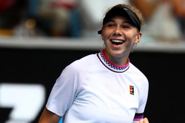 Amanda Anisimova encerra campanha no Aberto da Austrália com excelente campanha e alcança na próxima atualização do ranking, novo recorde na carreira, entrando no top 70 (Foto: Divulgação/WTA)
