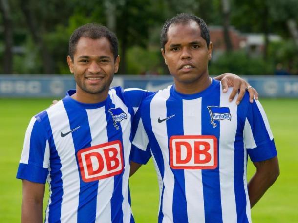 Ambos atuaram juntos em uma temporada em Berlim (Foto: Reprodução / Hertha Berlin)